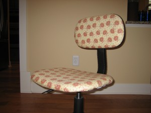 finished swivel chair